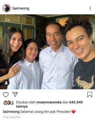 Dibully Gara-gara Tulis 'Jokowi Presiden Terbaik', Baim Wong Langsung Ganti Caption