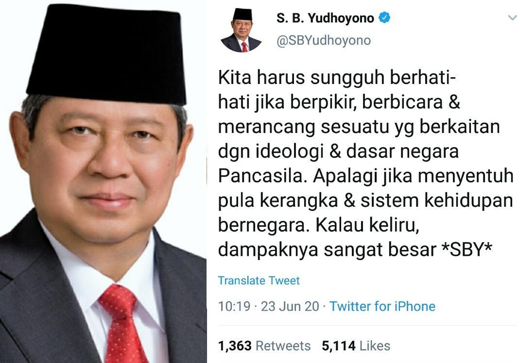 SBY soal RUU HIP: Hati-hati, Kalau Keliru Dampaknya Sangat Besar, Kasihan Rakyat