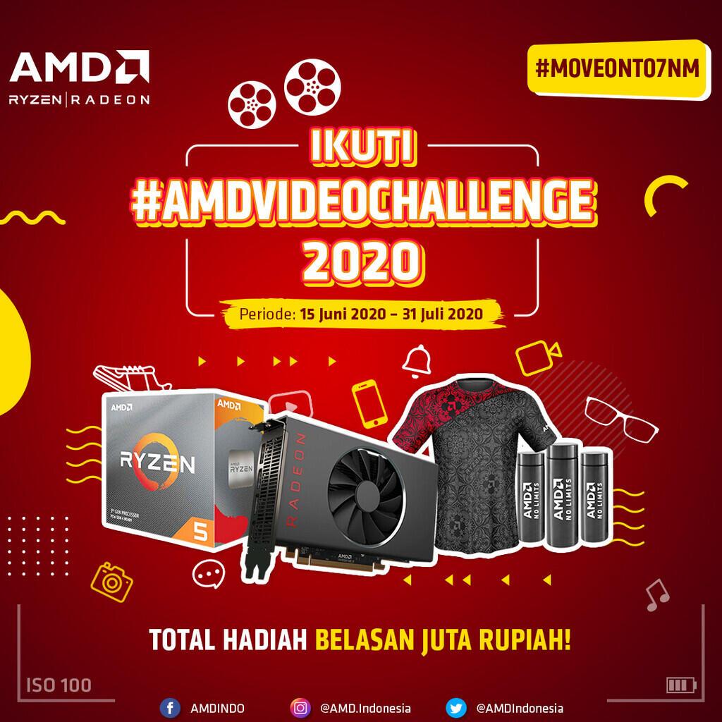 Adu Kreativitas Agan di #AMDVideoChallenge Buat Menangin Hadiah Belasan Juta Rupiah!