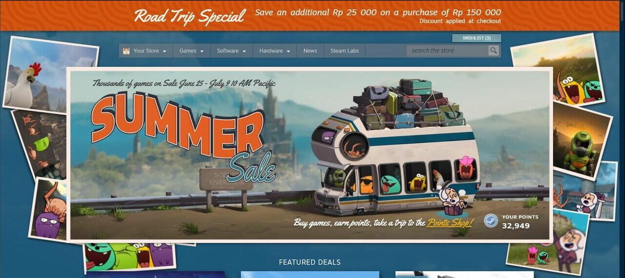 Summer Steam Sale Sudah Hadir GanSist !