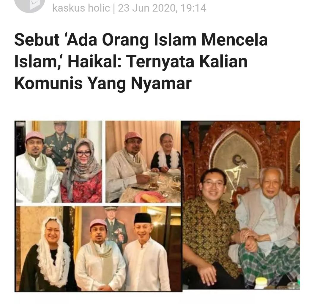 Denny Siregar: Riwayat Kadrun di Indonesia