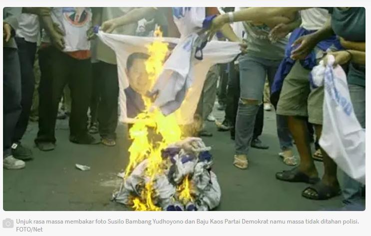 Dulu Kaos Bergambar Demokrat dan Pak SBY Dibakar Massa, tapi Anteng Saja