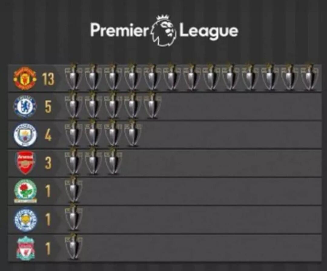 7 Tim Yang Pernah Juara Premier League
