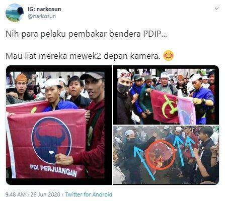 Inikah Oknum Demonstran Pembakar Bendera PDIP?