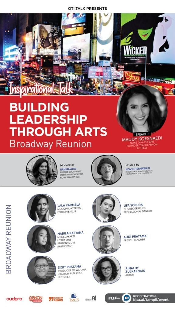 Inspirational Talk: Building Leadership Through Arts - Broadway Reunion