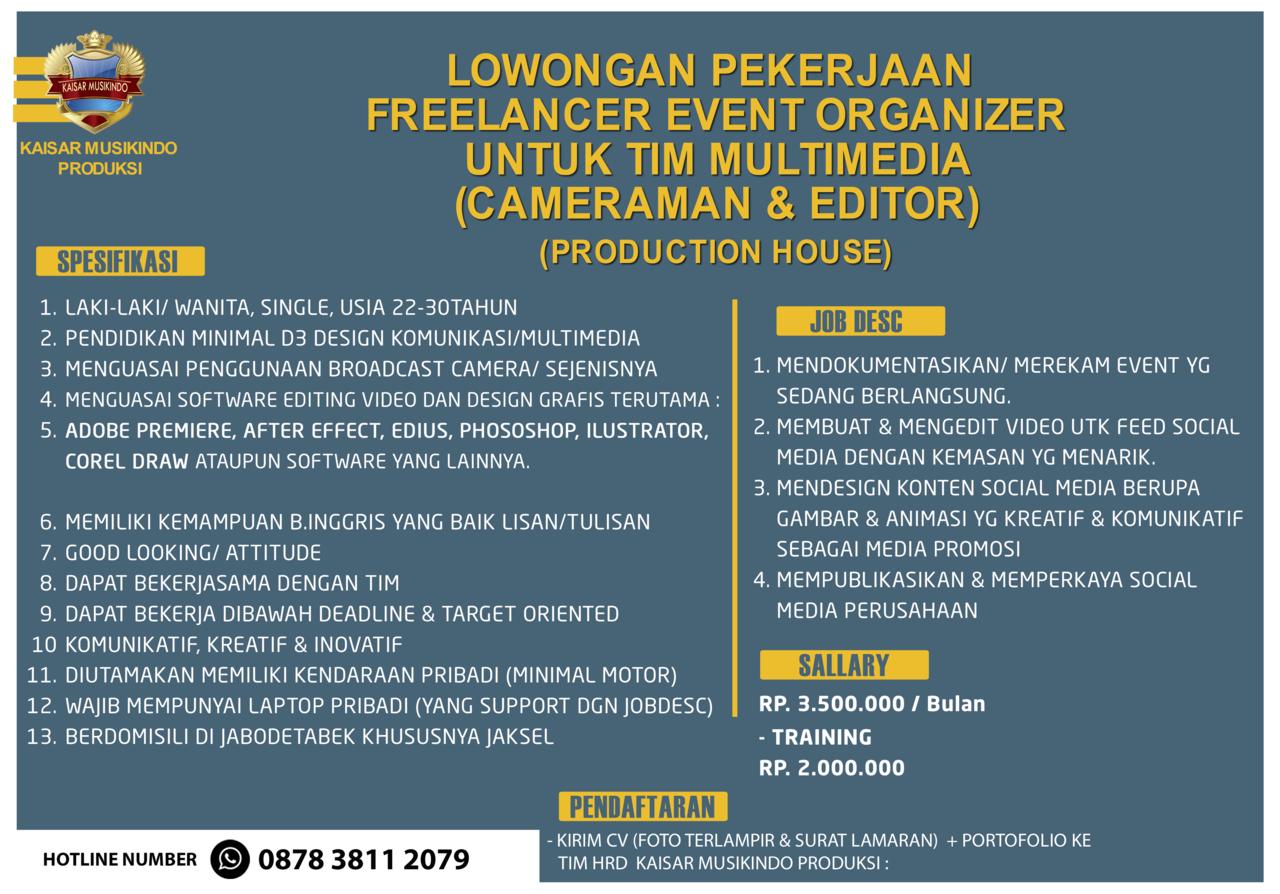 LOKER Event Organizer | Tim Multimedia | Cameraman & Editor