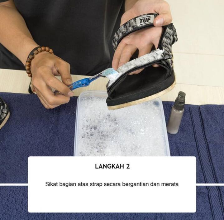 Bagaimana cara mencuci sandal sepatu ala TUF Footwear?