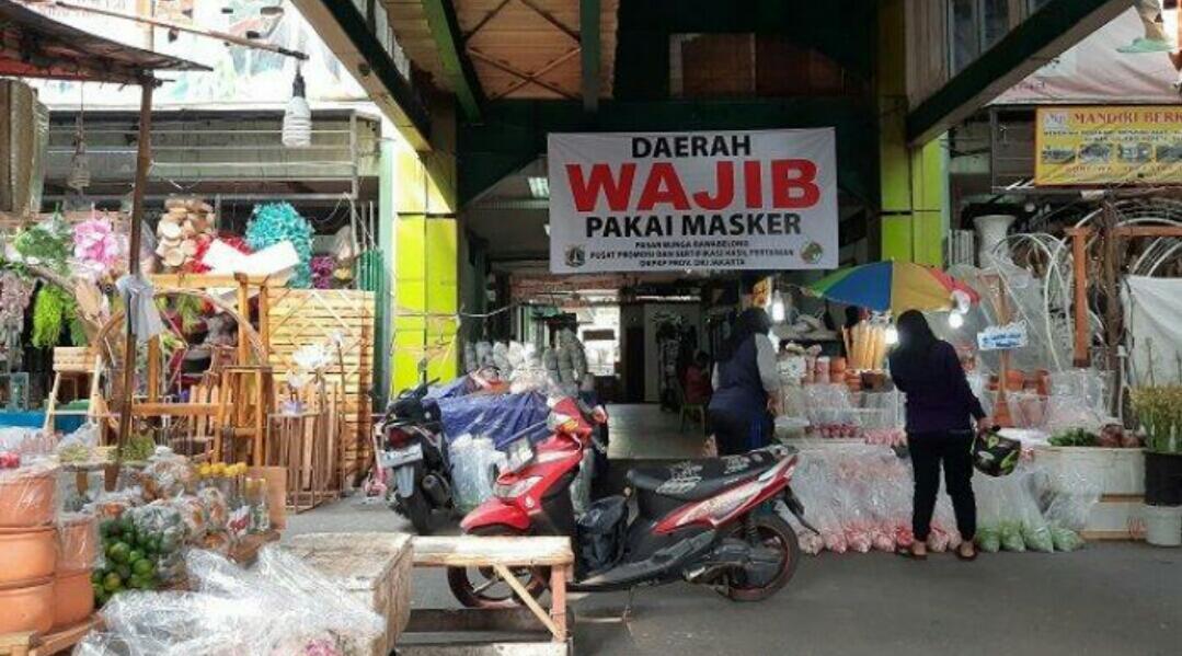 Satu Pedagang Positif Covid-19, Pasar Bunga Rawa Belong Tak Ditutup