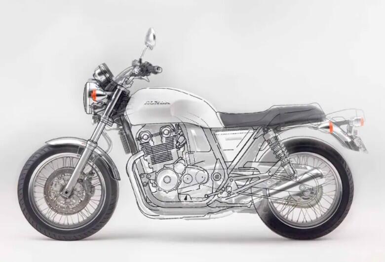 Honda Ajukan Paten CB750, Motor Batangan Tanpa Kopling