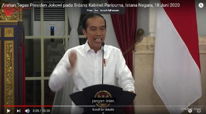 Momen Jokowi Marah-marah saat Pandemi Corona