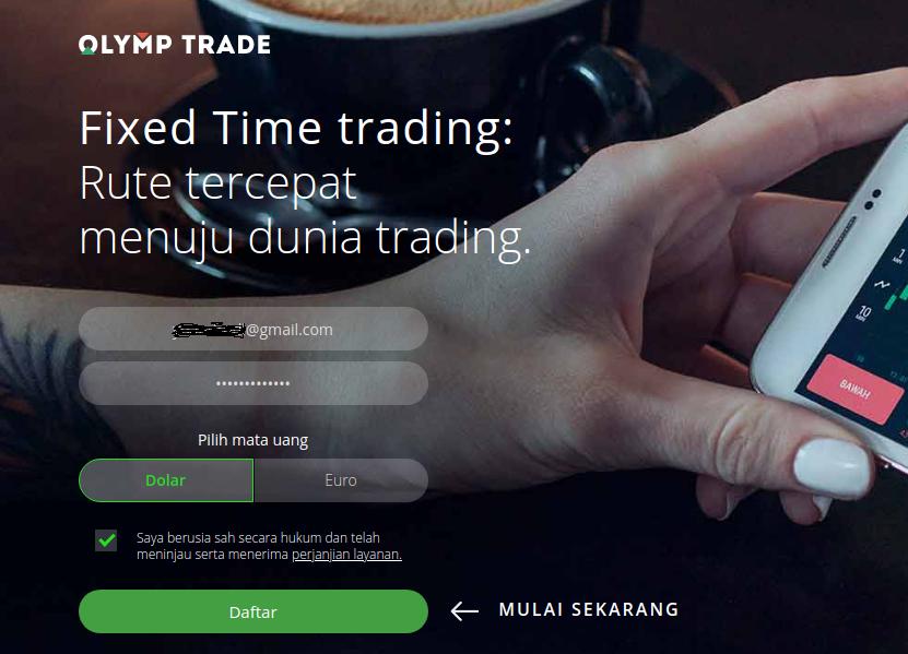 Cara Daftar Olymp Trade Indonesia Dapat Bonus 100%