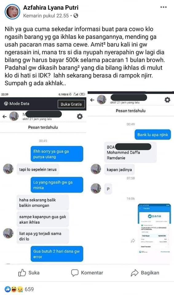 Viral Cowok Meminta Ganti Rugi Karena Diputusin. Kenyataannya...