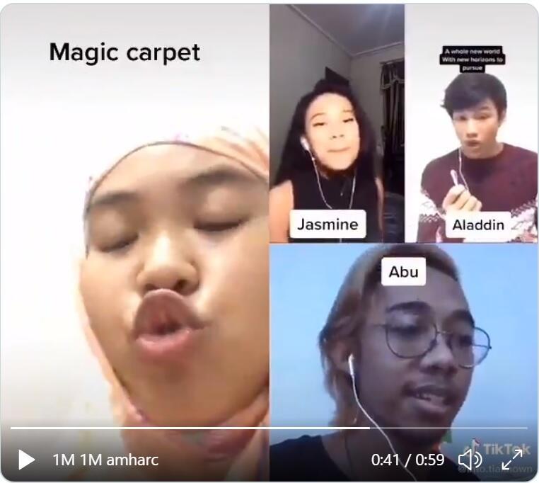 Cover Lagu Aladdin Terngakak, Ada Efek Suara Karpet Dan Monyet Peliharaan Alladin !