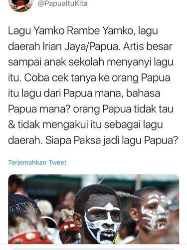 Lagu Yamko Rambe Yamko Bukan Lagu Papua, Katanya ...