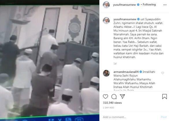 Viral Detik-detik Sahabat Ustaz Yusuf Mansur Meninggal Saat Jadi Imam Salat Subuh