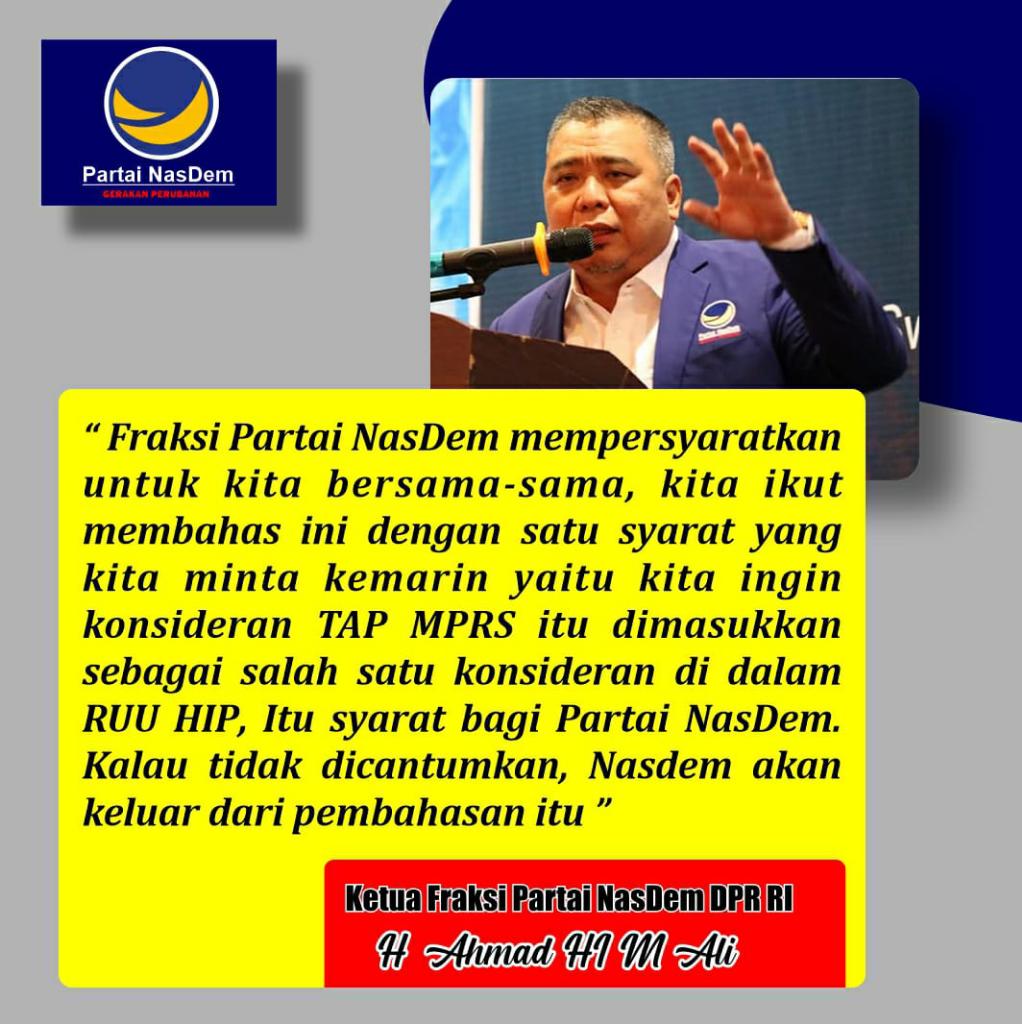Viral Hoax Fitnah Partai Nasdem dan Partai Lain Terkait RUU HIP, TV One Pastikan Hoax