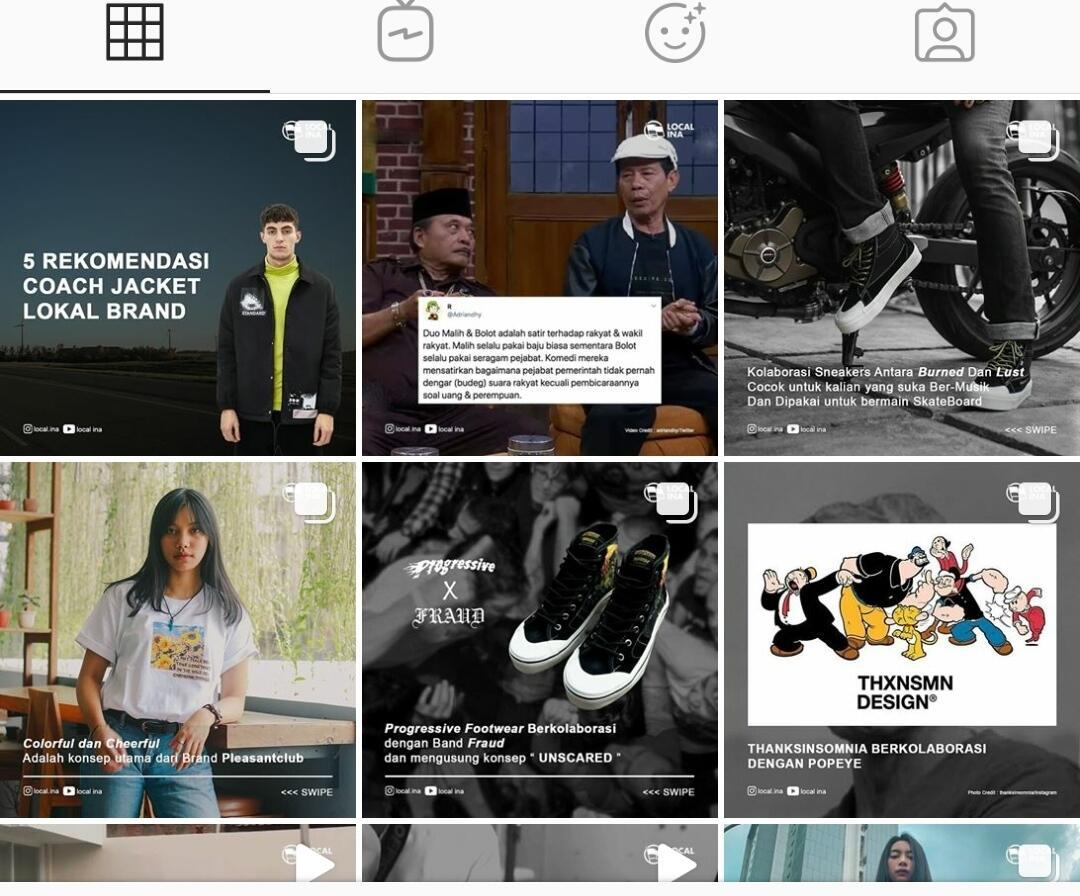 Bentuk Dukungan Media Sepatu Lokal di Instagram