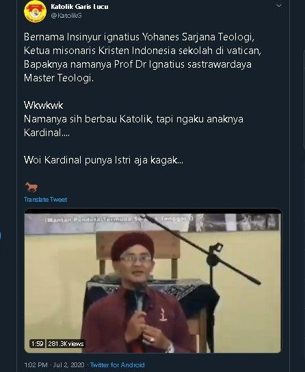 Viral Video Pria Mualaf Mengaku Anak Kardinal, Panen Cibiran