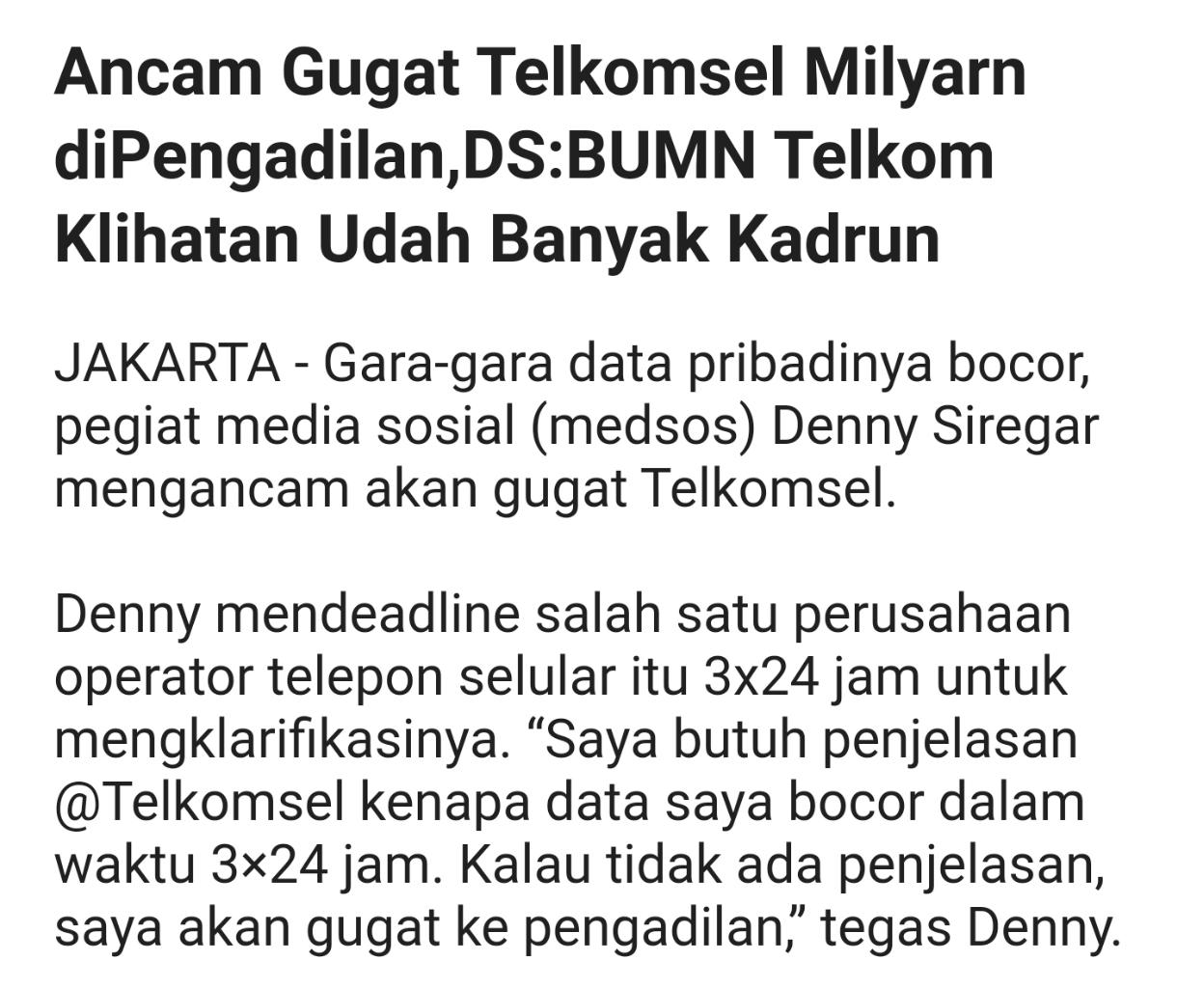 Data Pribadi Denny Siregar Bocor,Akun @xdigeeembok Bongkar Pemilik Akun @Opposite6891