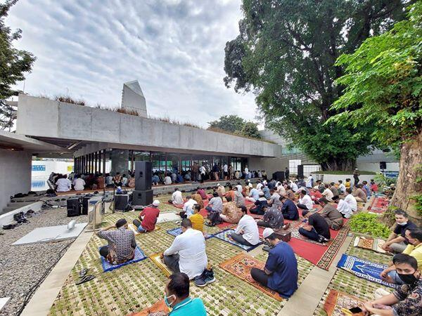 Dirobohkan Jokowi-Ahok, Masjid Amir Hamzah kembali dibangun Anies dan diresmikan