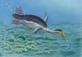 Unik! Burung Raksasa dengan Tinggi 2 Meter Ini Mirip Pinguin Purba