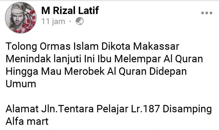 Penistaan Agama, Seorang Ibu Melempar dan Mengancam Sobek Al-Qur'an Berujung Penjara!