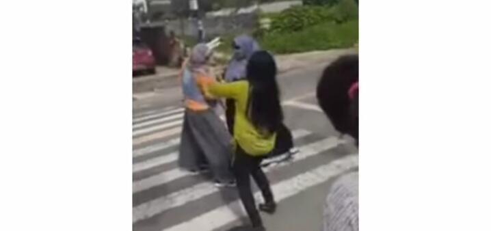 Lagi-lagi Pansos, Emak-emak Berjoget di Tengah Jalan Saat Lampu Merah! Butuh Materai?