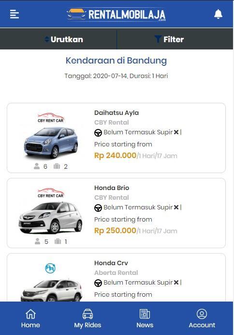 Pasang Iklan Rental & Sewa Mobil Gratis