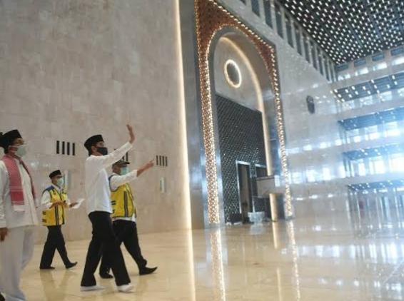 Jokowi Pamer Wajah Baru Istiqlal Rp475 Miliar di Tengah Pandemi