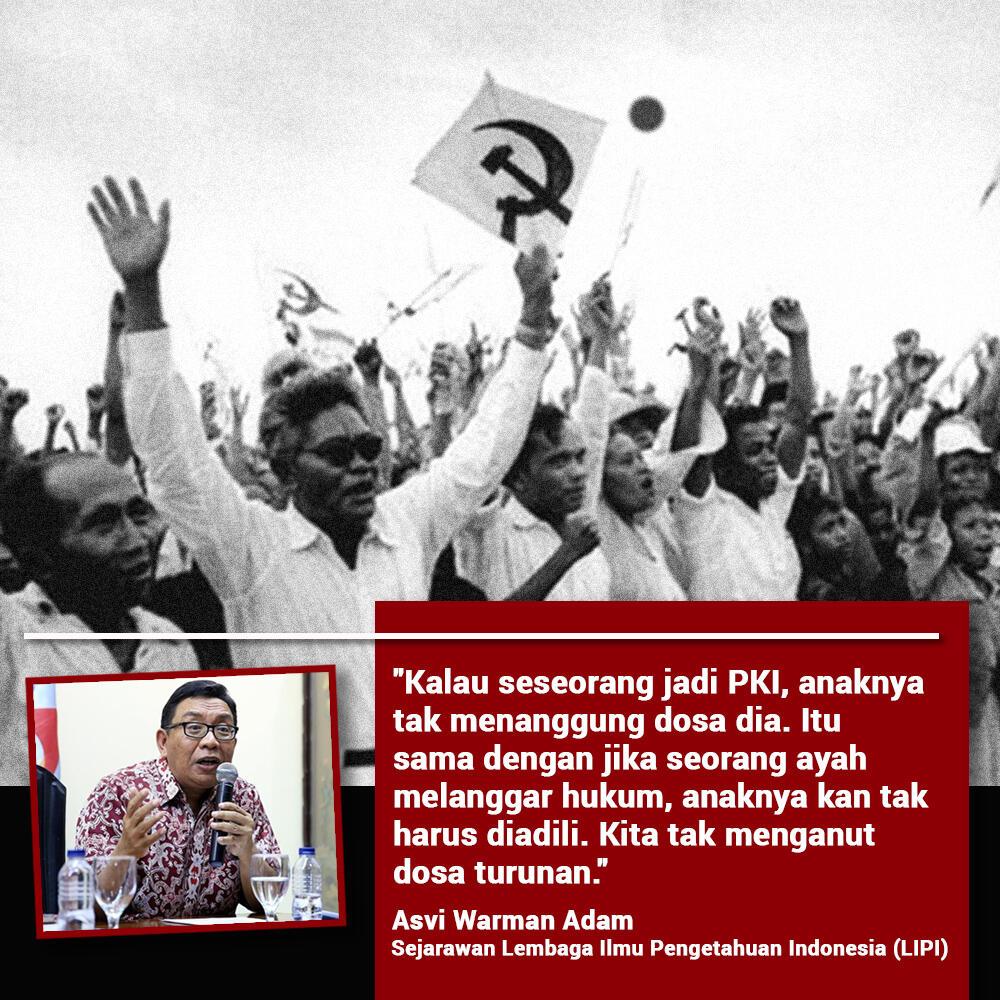 LIPI: Bila Seorang Jadi PKI, Keturunannya Jadi PKI?