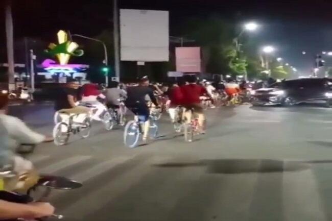 Polisi: Banyak Pesepeda yang Terobos Lampu Merah