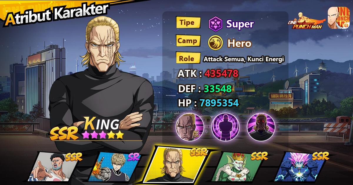 King Sang Pria Terkuat di Bumi, Hadir Dalam Waktu Terbatas