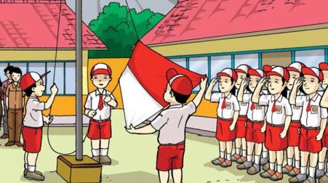 6 Hal Ini Pasti Pernah Kamu Alami Saat Upacara Bendera di SD