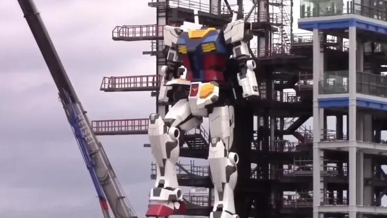 Alami Kemajuan, Robot Gundam Berukuran 18 Meter Udah Bisa Gerakkan Kaki