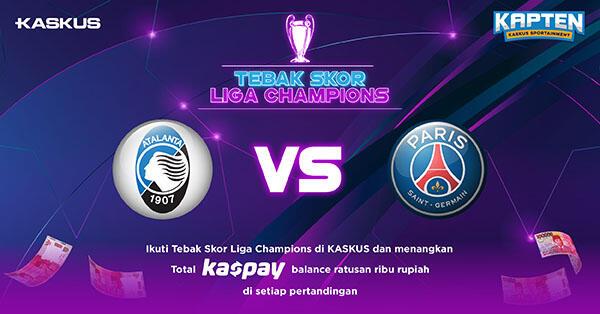 Tebak Skor Liga Champions: Atalanta vs PSG