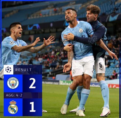 Hasil Liga Champion: Real Madrid dan Juve Gugur, Man City vs Lyon di Perempat Final