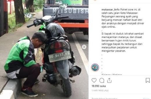 Driver Ojol Bawa Anak Kerja, Ditinggal Istri Nikah, Rumah Jadi Jaminan Bank