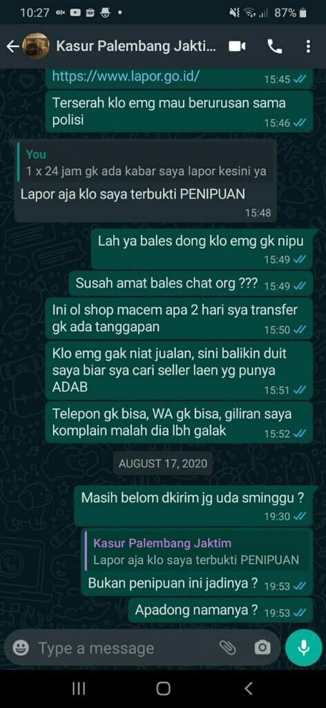 Hati-Hati Penipuan a.n Jordan P Tambunan atau nathan collection / Nathanbily