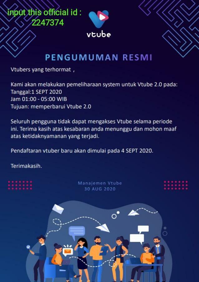 Segera Lakukan Register Vtube Buka Gelombang Ke 3 Selasa 01 September 2020 Kaskus