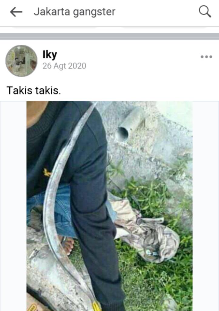 Gengster mulai eksis di group facebokk