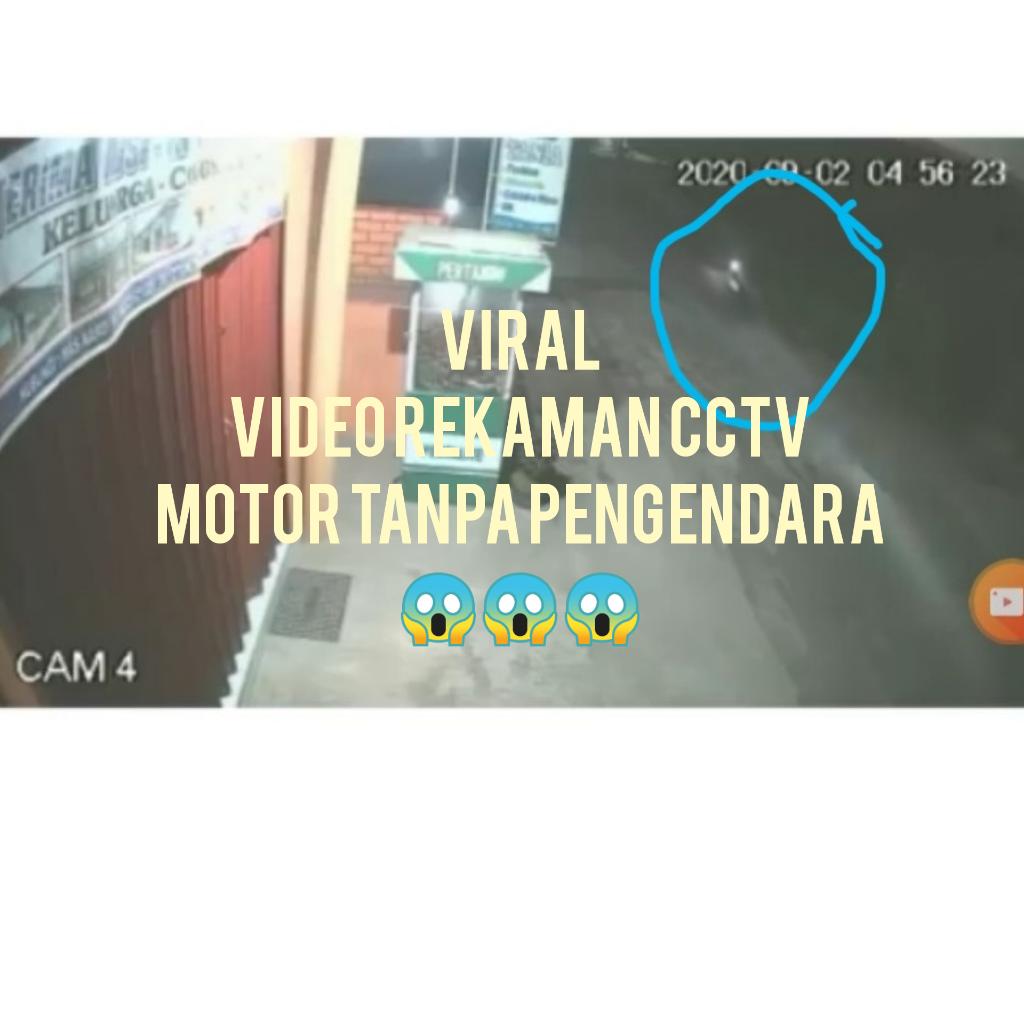 VIRAL! Video Rekaman CCTV Motor Tua Melaju Sendiri Tanpa Pengendara, Kok Bisa?