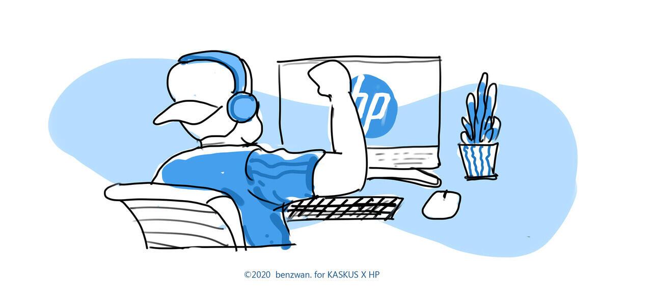 HP All-in-One PC 24 Teman Mesra Buat Jaga Produktifitas di Rumah