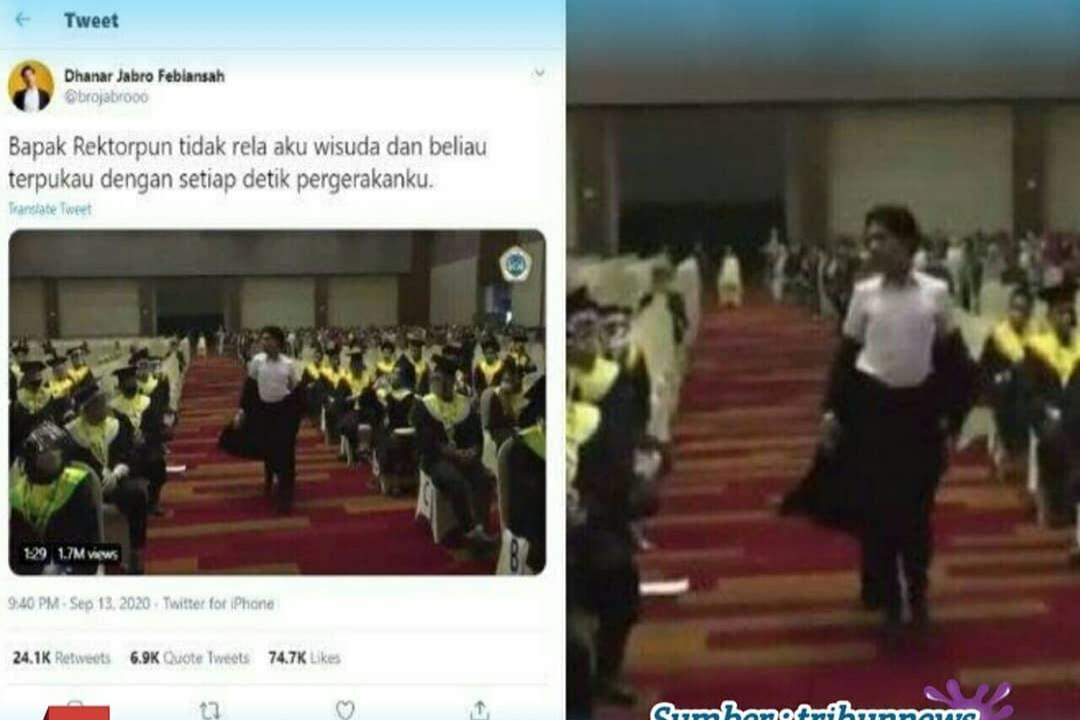 Viral! Wisudawan Menari Diiringi Lagu Black Pink di Hadapan Rektor, Lentur Bukan Main