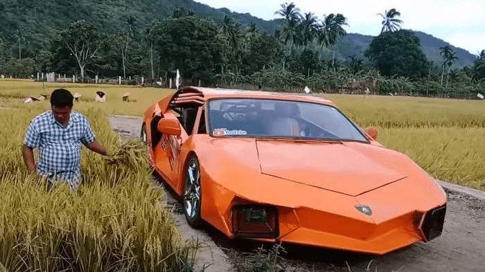 Petani ini Ubah Yamaha Vixion Menjadi Supercar Lamborghini