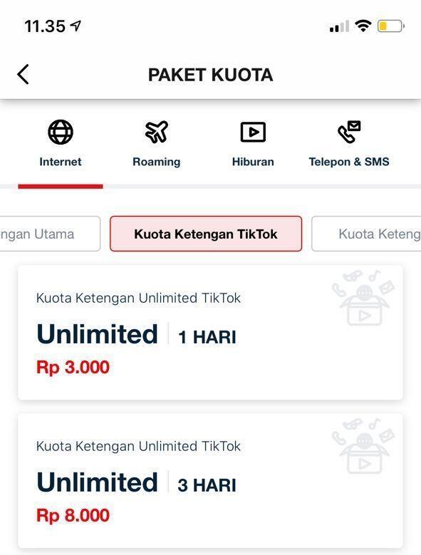 4 Paket Ketengan Telkomsel Unlimited Terbaru 2020