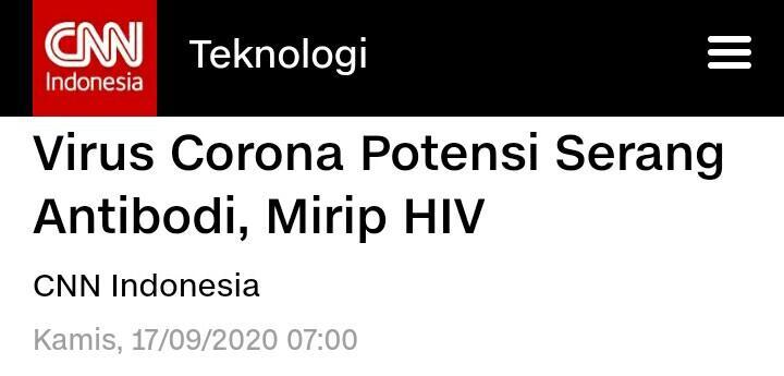 Ini Sebab Antibodi Tak Berkutik Lawan Virus Corona