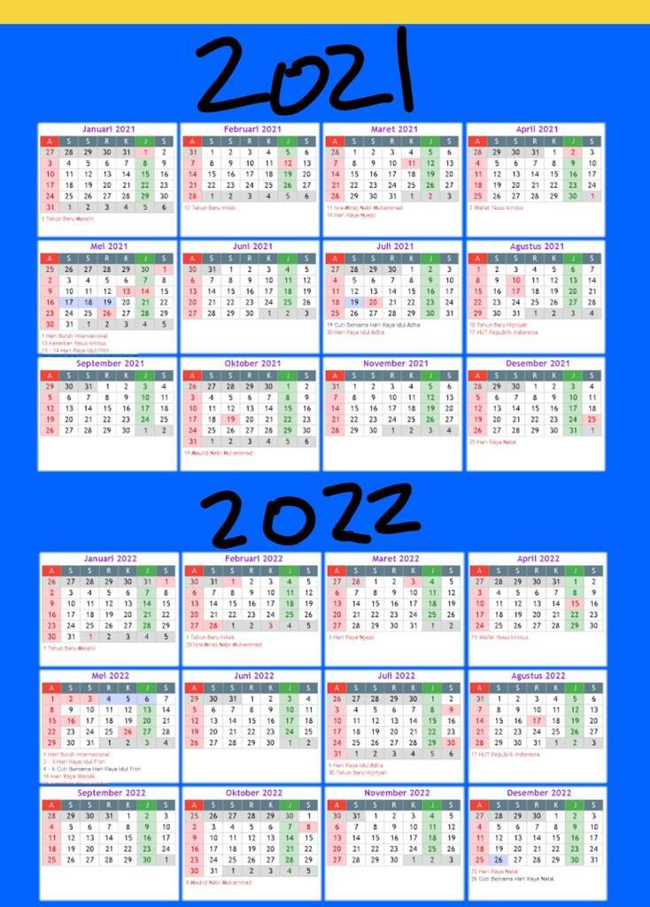 Kalender 2021 & 2022 | KASKUS