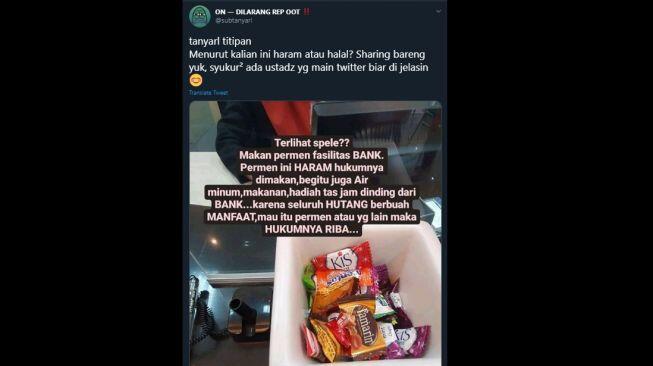 Viral Curhatan 'Makan Permen dari Bank Hukumnya Haram', Publik Berdebat