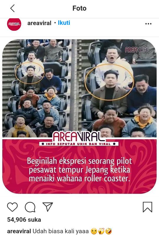 Gini Nih Ekspresi Pilot Pesawat Tempur Saat Naik Roller Coaster, Apa Pendapatmu?