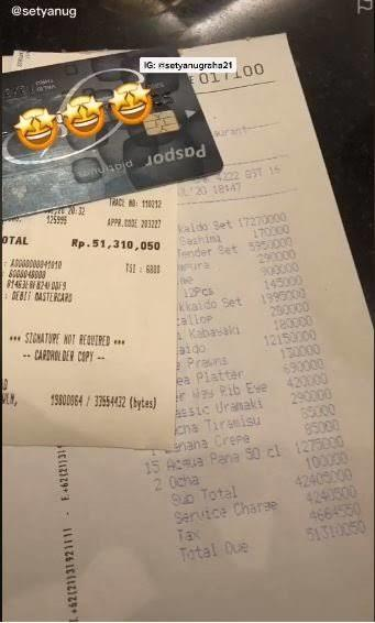 Viral! Tagihan Makan Di Restoran Mewah 50 Juta